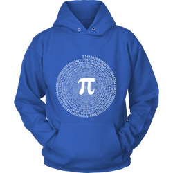 GearLogic - Science Jewelry & Science Shirts | Spiral Pi Value Hoodie