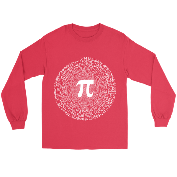GearLogic - Science Jewelry & Science Shirts | Spiral Pi Value Long Tee