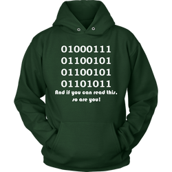 GearLogic - Science Jewelry & Science Shirts | Binary Geek Hoodie
