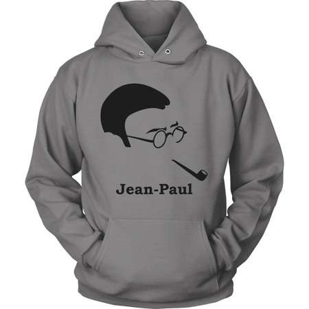 Jean-Paul Sartre Silhouette Science Long Tee