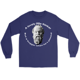 GearLogic - Science Jewelry & Science Shirts | Socrates A Lovely Little Thinker Long Tee