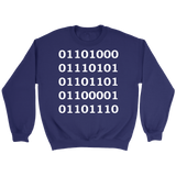 GearLogic - Science Jewelry & Science Shirts | Binary Human Sweatshirt