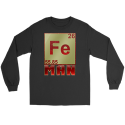 GearLogic - Science Jewelry & Science Shirts | Periodic Iron Man Long Tee