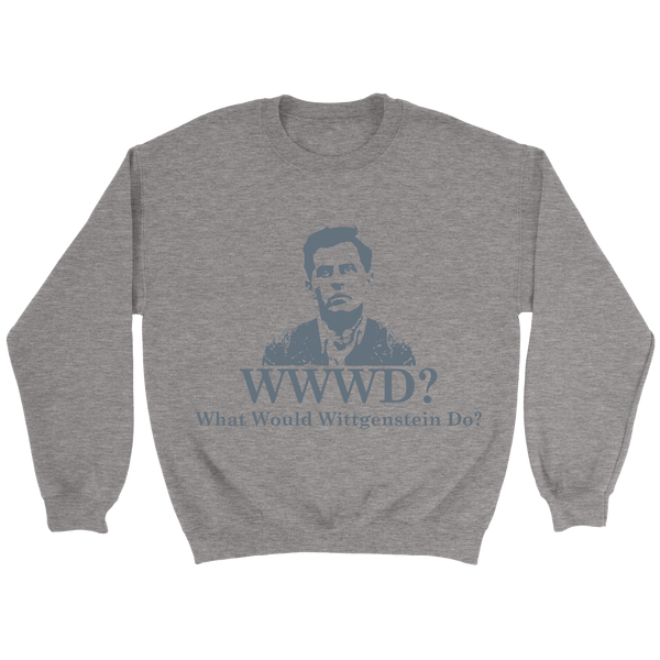 GearLogic - Science Jewelry & Science Shirts | What Would Wittgenstein Do Sweatshirt