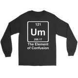 GearLogic - Science Jewelry & Science Shirts | Element of Confusion Long Tee