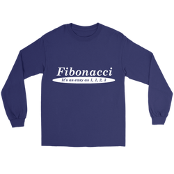 GearLogic - Science Jewelry & Science Shirts | Fibonacci is Easy Long Tee