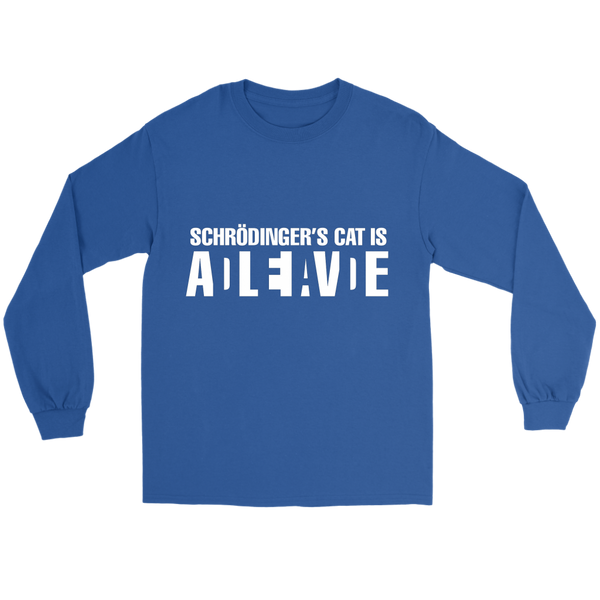 GearLogic - Science Jewelry & Science Shirts | Schrodinger's Cat  Long Tee