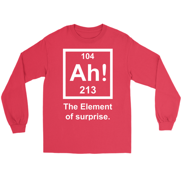 GearLogic - Science Jewelry & Science Shirts | Element of Surprise Long Tee