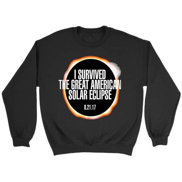GearLogic - Science Jewelry & Science Shirts | I Survived the Solar Eclipse Sweatshirt