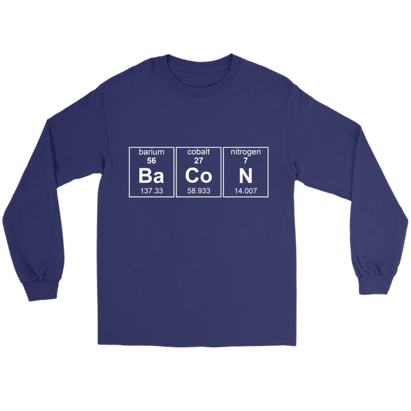 GearLogic - Science Jewelry & Science Shirts | Bacon Chemistry Long Tee