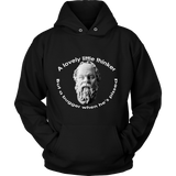 GearLogic - Science Jewelry & Science Shirts | Socrates A Lovely Little Thinker Hoodie