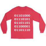 GearLogic - Science Jewelry & Science Shirts | Binary Human Long Tee