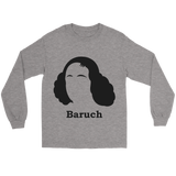GearLogic - Science Jewelry & Science Shirts | Baruch Spinoza Silhouette Lon Tee