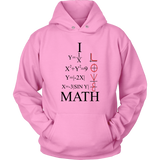 GearLogic - Science Jewelry & Science Shirts | I Love Math Graph Hoodie