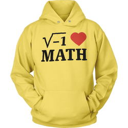 GearLogic - Science Jewelry & Science Shirts | i ♥ Math Hoodie