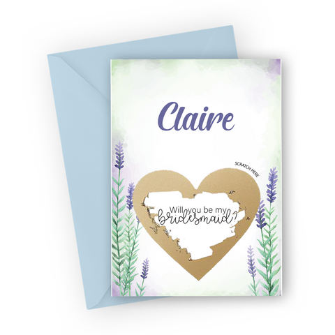 Lavender Bridesmaid Scratch Card