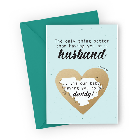Mint Pregnancy Scratch Card for Husband