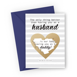 Grey Stripes Pregnancy Scratch Card for Husband