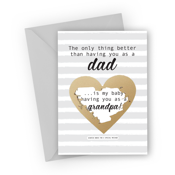 Grey Stripes Grandfather Scratch Card