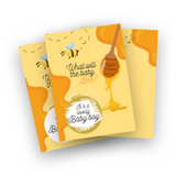 What will the baby bee Gender Reveal Scratch Off cards game for baby shower or gender reveal parties