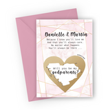 Pink Marble Godparents Scratch Card