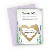 Lavender Godparents Scratch Card