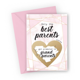 Pink Marble Grandparents Scratch Card