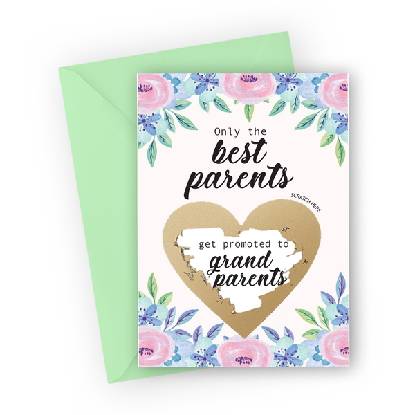 Pastel Florals Grandparents Scratch Card