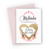 Pink Stripes Hen Party Scratch Card