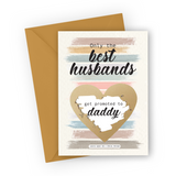 Colourful Stripes Pregnancy Scratch Card for Husband