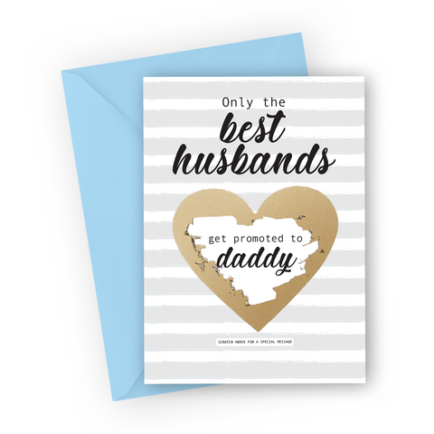 Grey Pregnancy Scratch Card for Husband