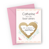 Pink Butterfly Pregnancy Scratch Card for Sister