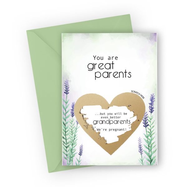 Lavender Grandparents Scratch Card