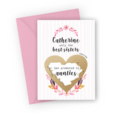 Pale Pink Stripes Pregnancy Scratch Card for Sister