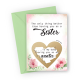Watercolour Flowers Pregnancy Scratch Card for Sister