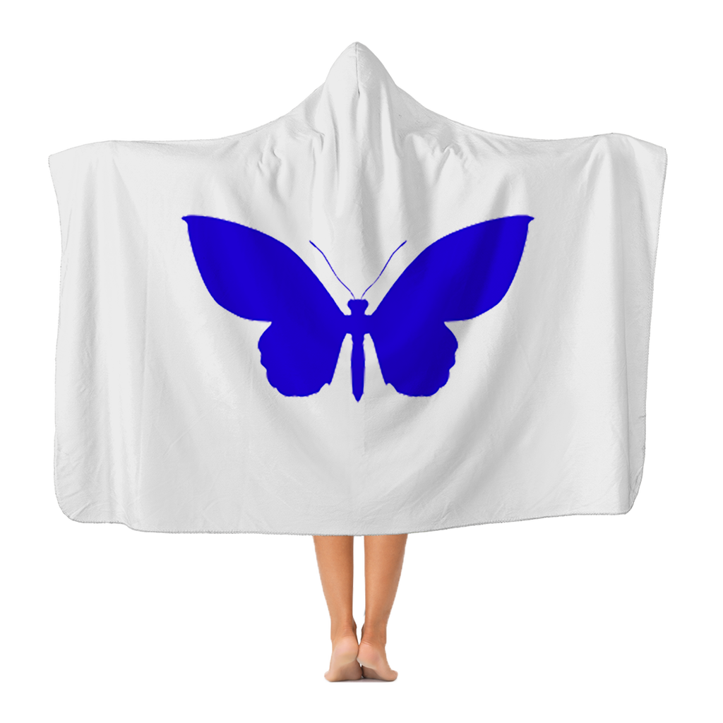 BLUE BUTTERFLY Hooded Blanket