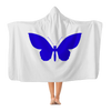 Image of BLUE BUTTERFLY Hooded Blanket