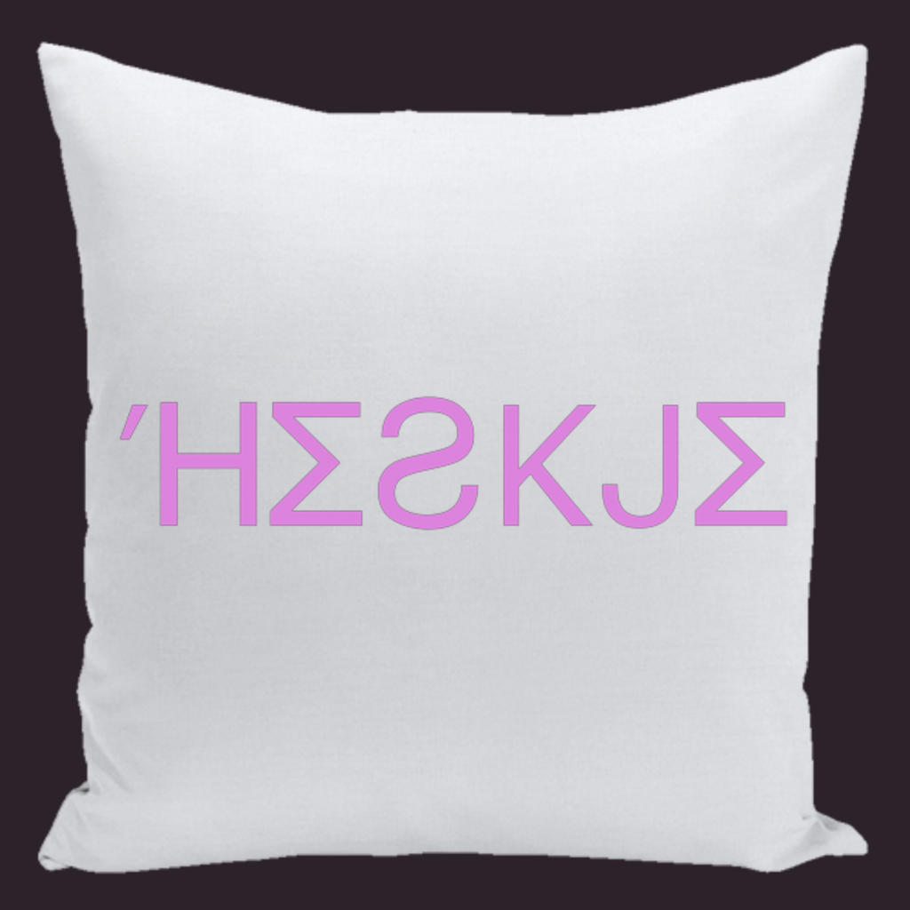 HESKJEpurpp throw pillow