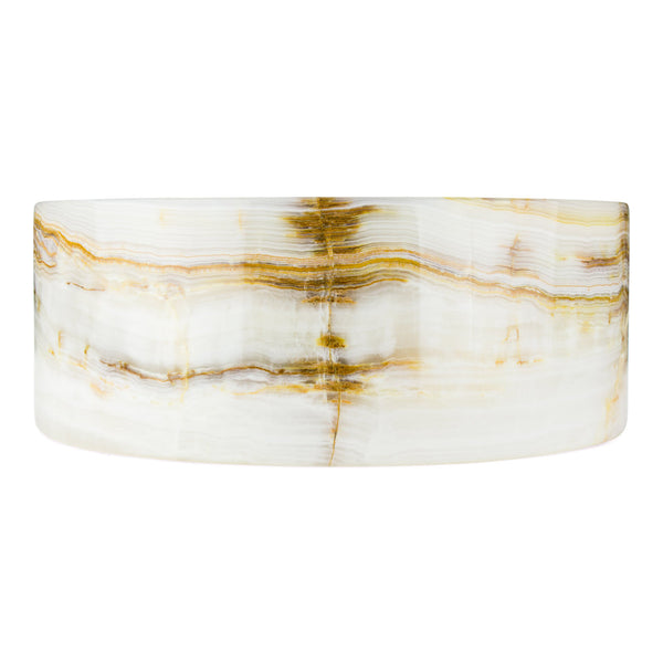 Honey Onyx - Drum Vessel Sink