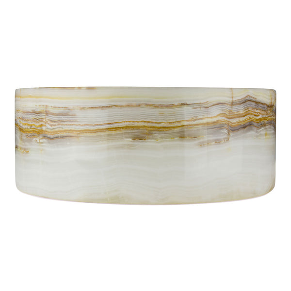 Vanilla Onyx Drum Sink