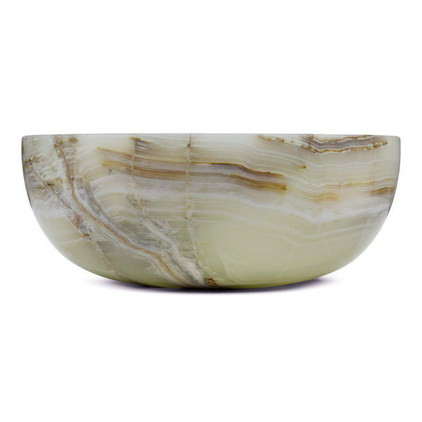 Green Oyster Onyx - Dome Vessel Sink