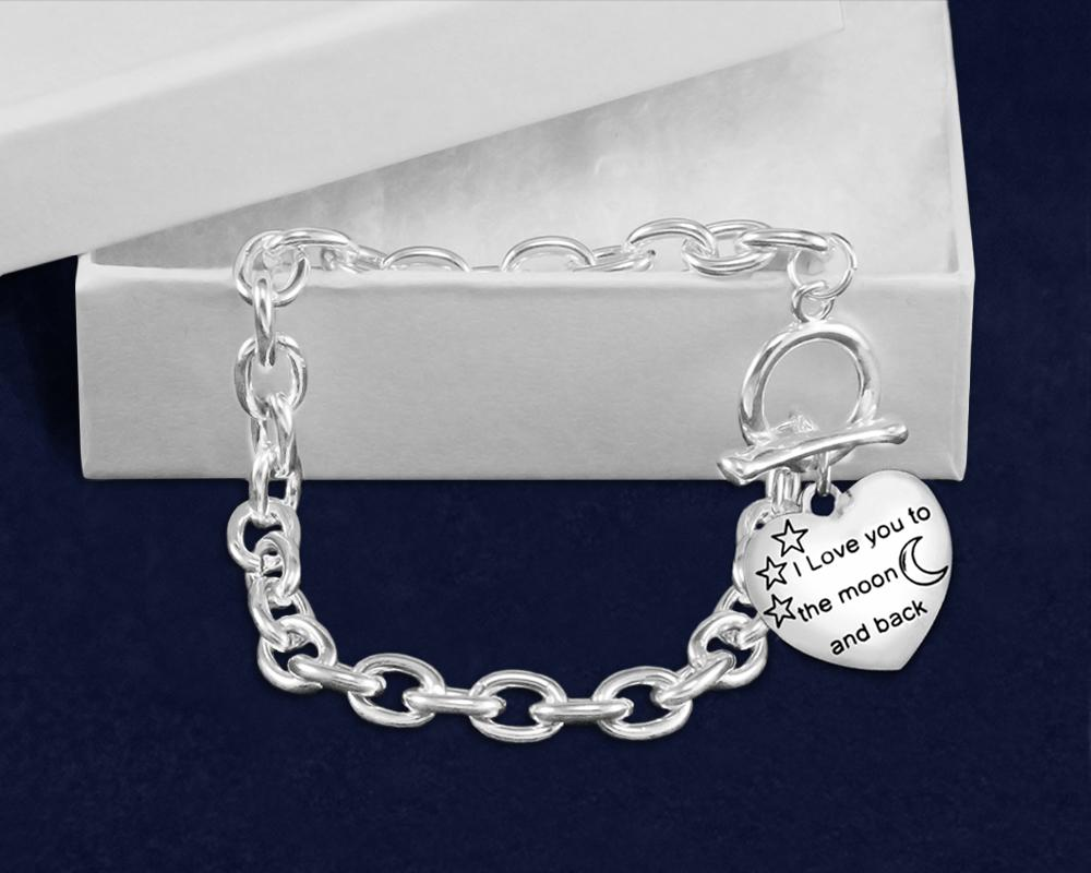 I love you to the Moon... Autism Awareness Bracelet