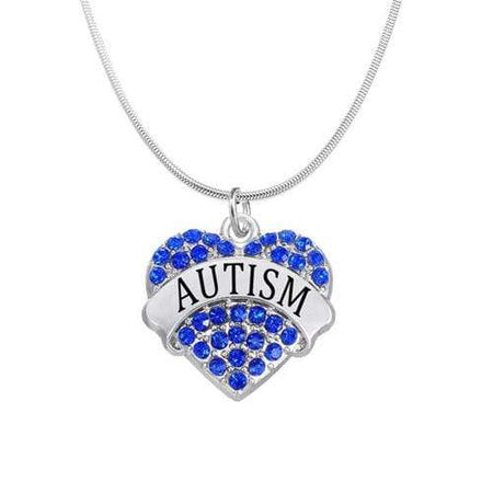 Autism Awareness Crystal Heart Necklace The Awareness Expo Autism