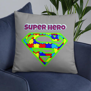 Autism #1 Super Hero Puzzle Piece Pillow The Awareness Expo Autism