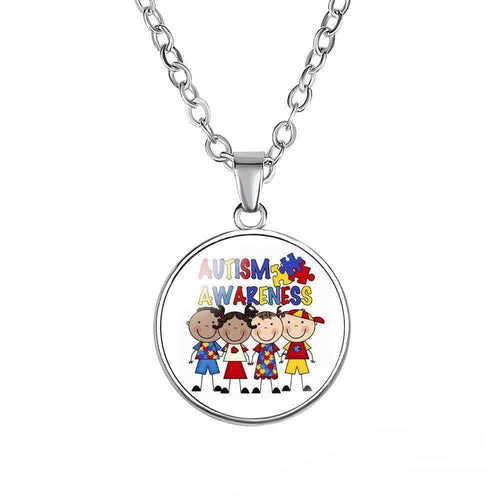 Autism Awareness Glass Dome Necklace The Awareness Expo Autism