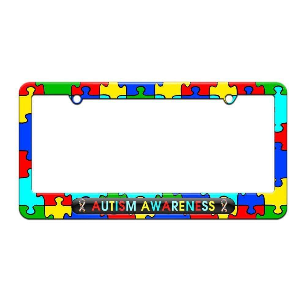 Autism Awareness - License Plate Tag Frame The Awareness Expo Autism