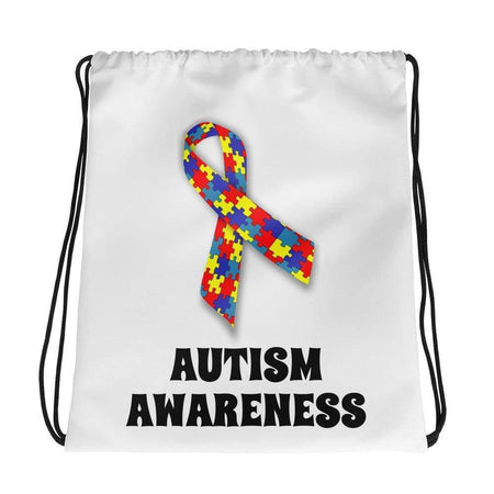 Autism Awareness Ribbon Drawstring Bag The Awareness Expo Autism
