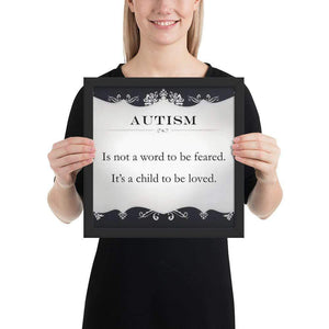 """Autism"" Framed poster The Awareness Expo Autism"