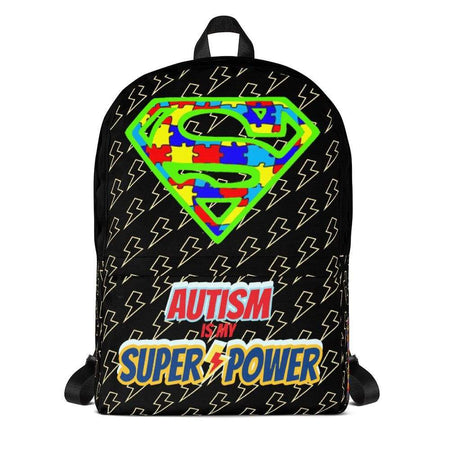 """Autism is my Super Power"" Super Hero Backpack The Awareness Expo Autism"