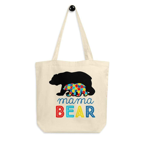 Autism Mama Bear Eco Tote Bag The Awareness Expo Autism